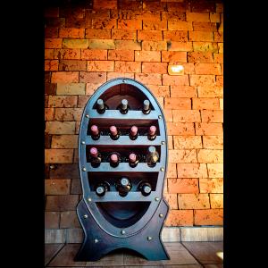 Adega para Vinhos em Couro Oval Simona