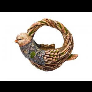 Cachepô para Flores Decorativo Pássaro Azul Simona