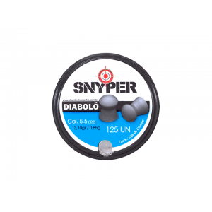 Chumbinho 5.5mm Diabolo Snyper 125 unidades