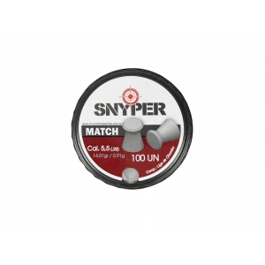 Chumbinho 5.5mm Match Snyper 100 unidades