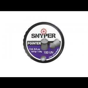 Chumbinho 5.5mm Pointer Snyper 100 unidades