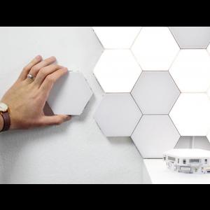 Kit Lâmpadas Led Hexagonal Touch 6 peças Simona