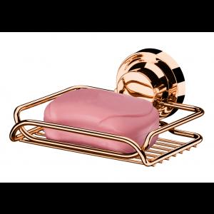 Saboneteira com Ventosas Rosé Gold