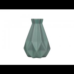 Vaso Decorativo Geométrico Verde Simona