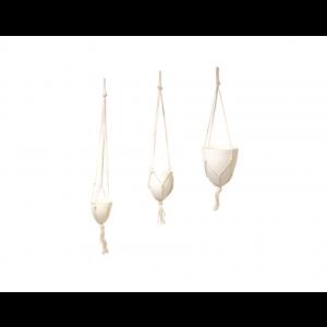 Kit de Vaso Hidropônico Decorativo Suspenso
