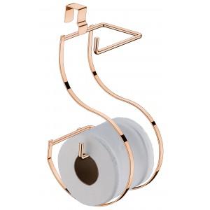Suporte Arredondado de Papel Higiênico para Caixa Acoplada Rosé Gold Future                                 class=